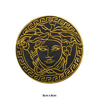 Medusa Head Embroidered Patch Iron on Sew On Badge For Clothes Bags et