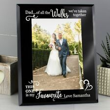 Personalised 5x7 Father of the Bride Glass Frame Wedding Gift Dad Fathers Day