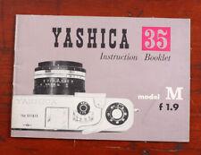Yashica 35 Model M F1.9 Camera Instructions/126842