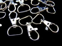 40mm D Shape Silver Coloured Lobster Trigger Swivel Clasps Findings Keyring ML