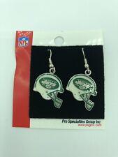 NFL NY New York Jets Football Helmet Enamel Dangle Earrings NEW!
