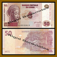 Congo D.R 50 Francs, 2000 P-91 Unc