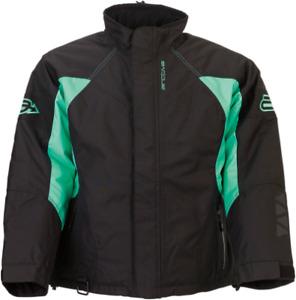 Arctiva Womens Pivot 3 Jacket Black/Mint Ladies Snowmobile jacket Size S-XL