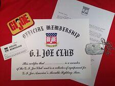 ** 1964-GI JOE CANADA-2018 ** New GI Joe Club Membership Military Letter Dog Tag