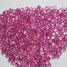 2.0-2.2 MM 30 PIECES ROUND NATURAL TOP PINK SAPPHIRE ROUND DIAMOND CUT NICE SET