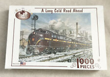 Serendipity Puzzle Co. A long Cold Road Ahead 1000 Piece Jigsaw Puzzle Old Train