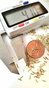 "600x 5/32"" 4mm Tiny Small Nails Brads Solid Brass 20G (0.8mm) Escutcheon pins FH"