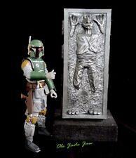 "Star Wars black srs  6"" pre-finished Jar jar Binks in Carbonite Han  Fett Jabba"