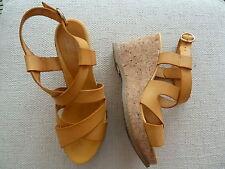 Sandalen Pantoffel Espadrilles von Billi Bi Copenhagen in gelb Gr. 39 wie neu