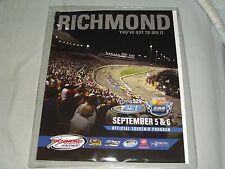 2014 RICHMOND RACEWAY FEDERATED AUTO PARTS 400 NASCAR EVENT PROGRAM