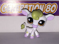 Littlest PetShop Vache Blanche Meche Moutarde N°783 Cow pet shop