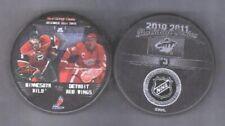 MINNESOTA WILD 2010-2011 vs #3 DETROIT RED WINGS PUCK - #2L