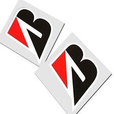 BRIDGESTONE `B` motorcycle decals custom graphics stickers x 2 pieces
