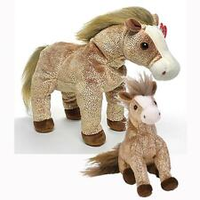 Filly The Horse Ty Beanie Baby and Buddy Set Retired MWMT Gold Sparkle