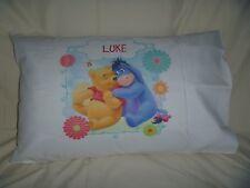 "Winnie The Pooh Personalised Pillowcase ""Luke""  *Brand New*"
