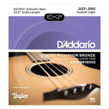 D'Addario EXPPBB 190GS Phos/BRZ Acoustic Bass Strings, Taylor GS Mini, 37-90