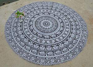 Bohemian Mandala Round Beach Rug Indian Roundie Tapestry Hippie Throw Yoga Mat