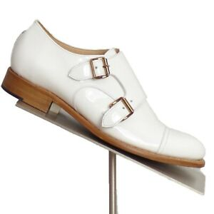THE OFFICE OF ANGELA SCOTT-White Patent Brogues, Size-39