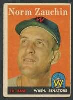 1958 Topps #422 Norm Zauchin VG/VGEX Senators 24194