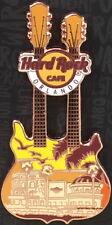 Hard Rock Cafe ORLANDO 2017 CAFE FACADE DOUBLE NECK GUITAR City Core PIN on CARD