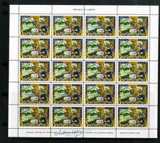 Liberia Stamps Arthur Szyk Signed Complete Full Color Sheet of 20 VF OG NH + LH