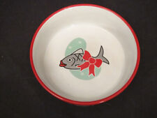 New listing vintage Dear Santa Been a Good Cat Ceramic Christmas Cat Dish Bowl Mulberry Home