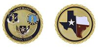 """ARMY CAMP MABRY AUSTIN TEXAS MILITARY FORCES 1.75"""" CHALLENGE COIN"""