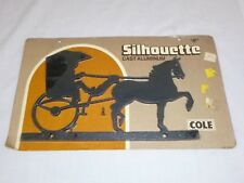 NOS Vtg Mid Century Silhouette Cast Aluminum Sign Address Lamp Post Horse Buggy