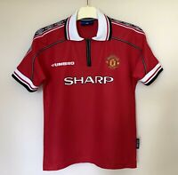 FC MANCHESTER UNITED 19982000 HOME FOOTBALL JERSEY SOCCER SHIRT VINTAGE BOYS