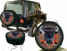 Western Country Indianer Büffel Bison Kopf Auto Caravan Jeep Truk Radcover Bezug