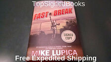 SIGNED Fast Break by Mike Lupica, 2015, Hardcover, autographed, NEW
