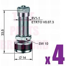 4 * Perno de Metal Aluminio Rueda neumático válvulas en se ajusta Toyota Opel Volkswagen