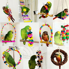 Colorful Swing Bird Toy Parrot Rope Harness Cage Toys Parakeet Cockatiel Us