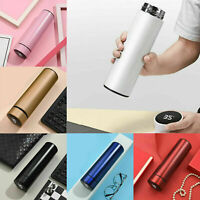 500 ML Smart Insulated Mug LED Touch Temperature Display Vacuum Water Bottle US