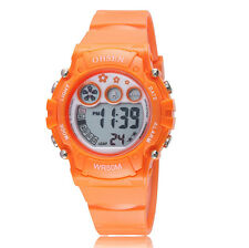 New OHSEN Children Kids G Orange Date Light Digital Quartz Shock Wrist Watches