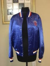 Vintage Chicago Cubs Satin Bomber Jacket. Made in USA by Starter. Size Medium