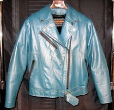 Custom Made Womens Korean Motorcycle Jacket with Harley Davidson Emblements