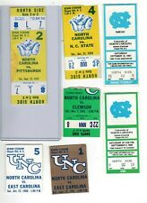 New ListingNorth Carolina vintage football ticket stubs, lot of 14, Tar Heels, full, 1970's