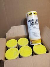 LOT OF 6 WAXIE EMERGENCY CLEANUP POWDER 910730 ((