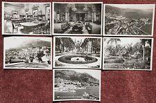 Monte Carlo 7x Unused Vintage Real Photographic Postcard PC Monaco