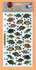 Stickopotamus Stickers Glittery, Colorful Tropical Fish