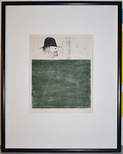 Listed American Artist Leonard Baskin, Original Signed Etching Rare