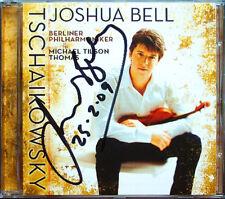 Joshua BELL Signed TCHAIKOVSKY Violin Concerto Serenade CD Michael Tilson THOMAS