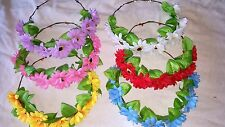 Joblot 24 pcs Mixed colour Daisy Flower  Headband - New wholesale