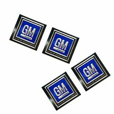 4x GM Logo Seatbelt Authentic DECAL Seat Belt Push Button Style 60s 70s 80s LSX