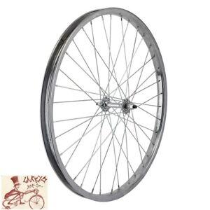 "WHEEL MASTER  24"" x 1.75""  STEEL CHROME BICYCLE FRONT WHEEL"