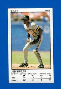 1991 Baseball PANINI Sticker # 117  JOSE LIND