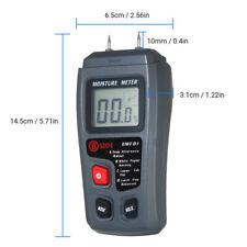 Digital Moisture Meter Damp Detector Wood Paper Humidity Tester Pin B6f0