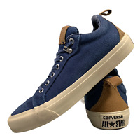 Converse Men's Sports Shoes Size Uk 8 Blue Casual Low Top Trainers EUR 42.5