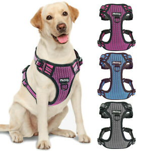 Reflective Dog Front Leading Harness Soft Mesh Pet No Pull Walking Vest Bulldog